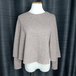 ZARA Cape Poncho Sweater Size Small